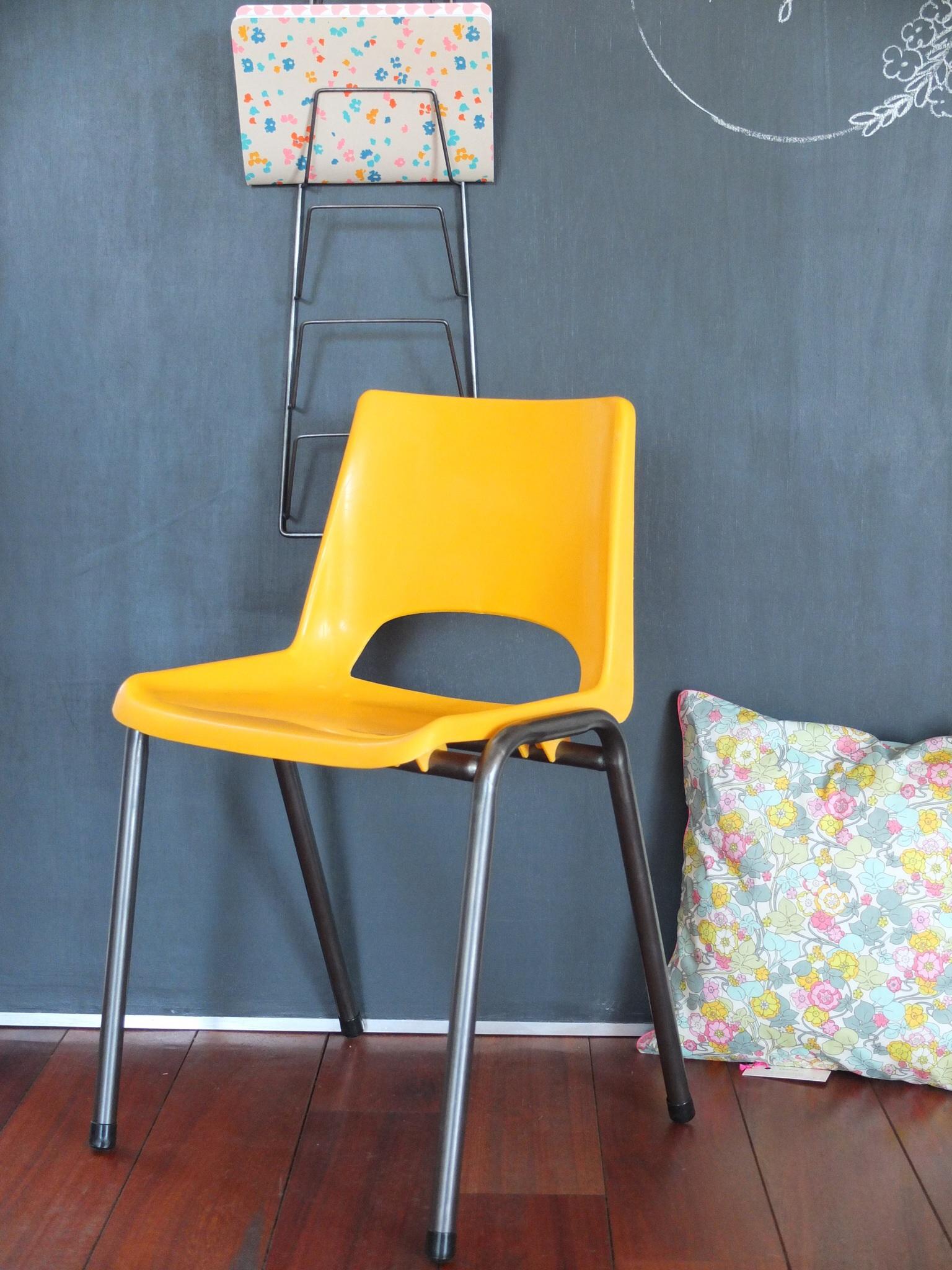chaise enfant maternelle ann es 60 70. Black Bedroom Furniture Sets. Home Design Ideas