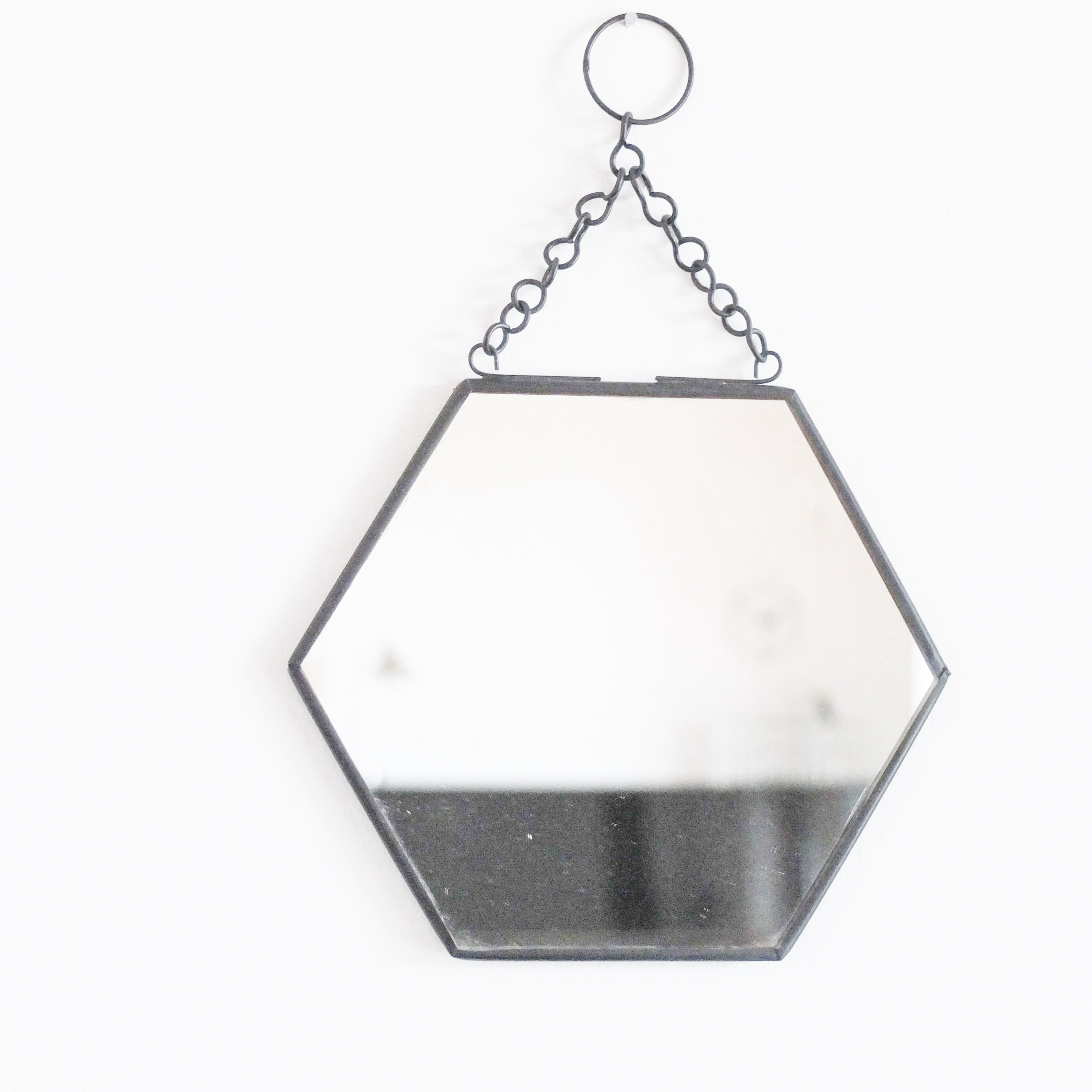 Miroir adhesif hexagonal id e inspirante for Douche italienne taille