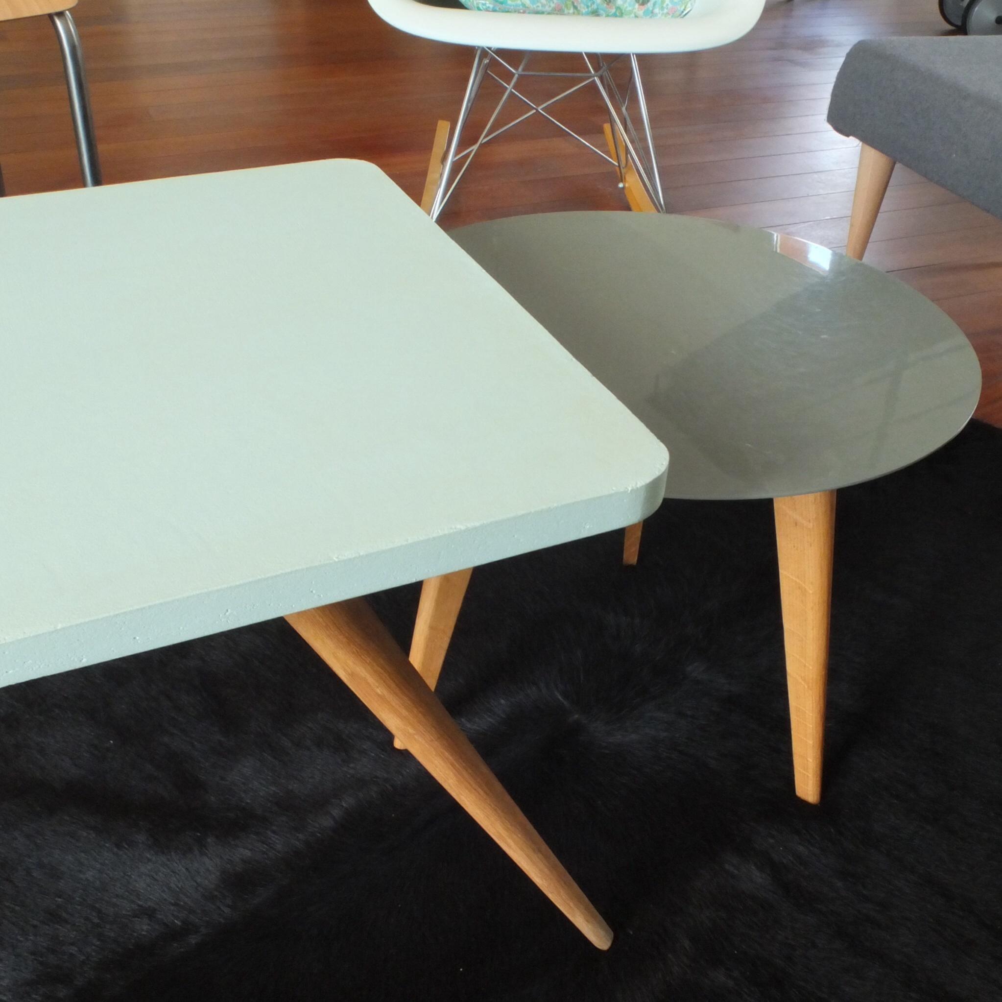 Table basse ann es 50 60 pieds compas vintage magic - Table basse annee 50 60 ...