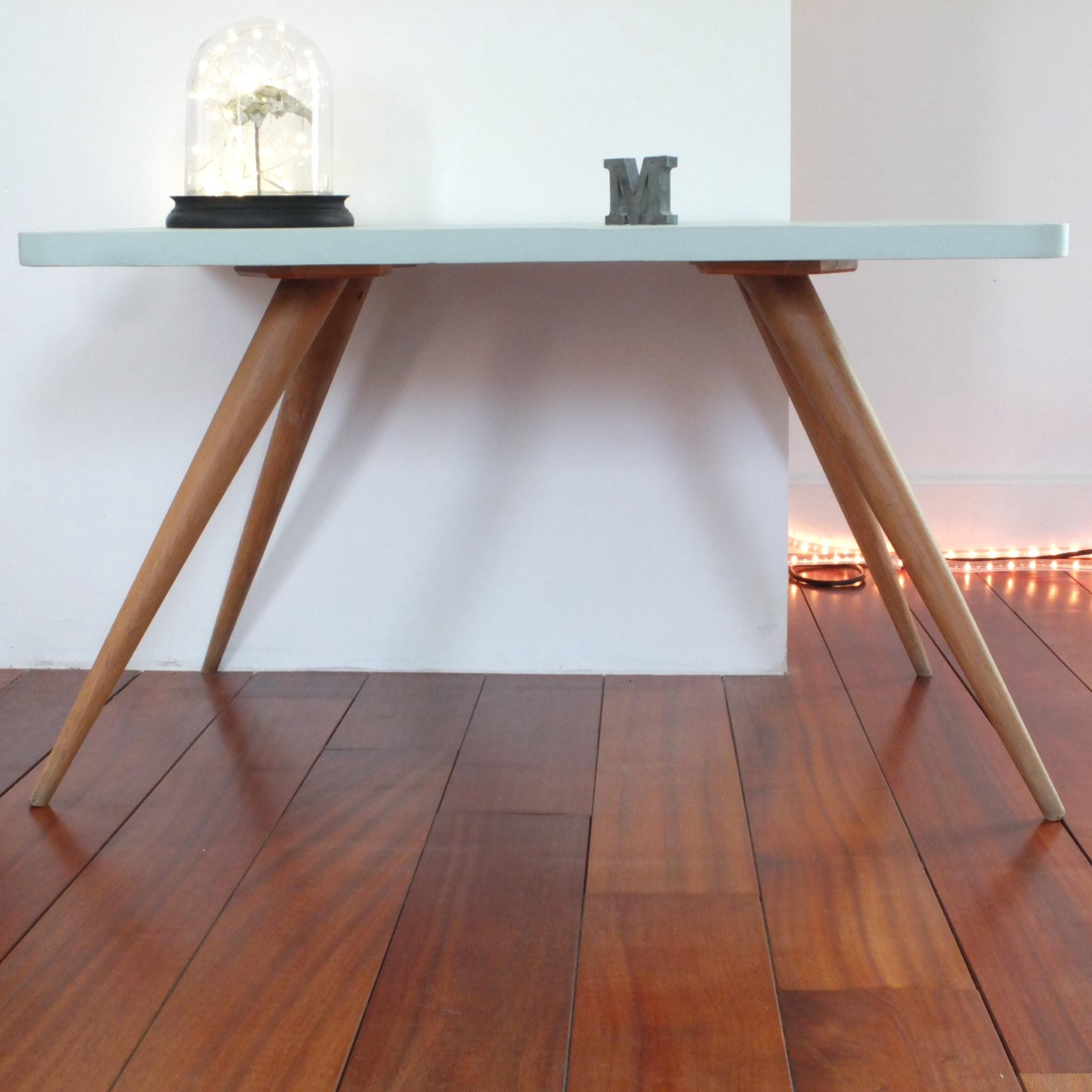 Table basse ann es 50 60 pieds compas vintage magic - Table basse pieds compas ...